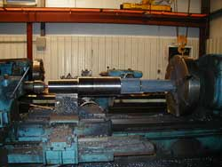 Steel spindles in a forging machine