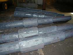 Stepshafts preparing for custom forging