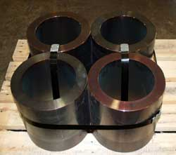 Forged steel rounds hollowed out