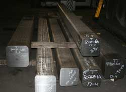 Stainless steel shafts prepared for forging